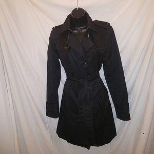 BANANA REPUBLIC Black Trench Coat